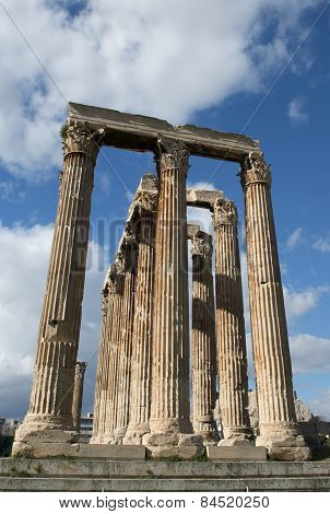 Columns In Olympieion Greece Athens 1