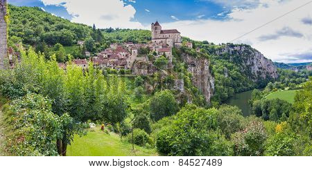 Panorama Of Saint Circ Lapopie In France