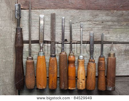 Carpenter tools composition.