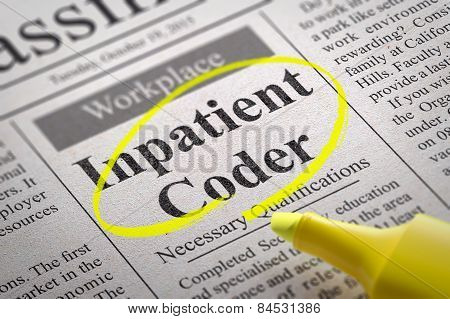 Inpatient Coder Vacancy in Newspaper.