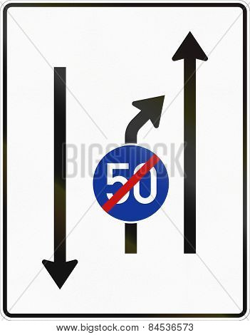 Second Lane Ends - Oncoming Traffic