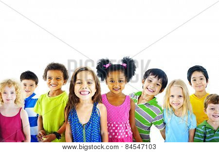 Ethnicity Diversity Gorup of Kids Friendship Cheerful Concept
