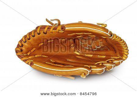 Empty Baseball Catcher Mitt Isolated On White