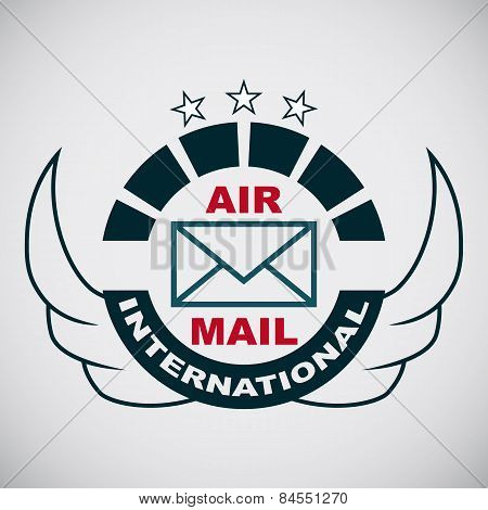 Vector stamp air mail