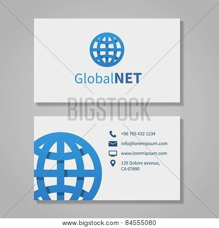 Global corporation business card