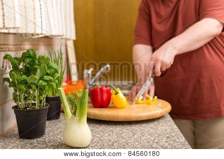 a healthy nutrition for a thick man poster