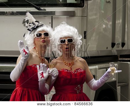 Elaborately Dressed Participants, During Gay Pride Parade