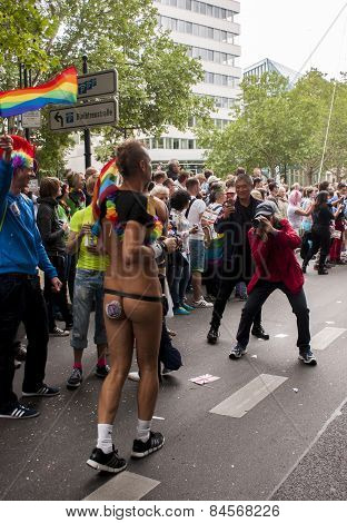 Elaborately Dressed Participant, During Gay Pride Parade