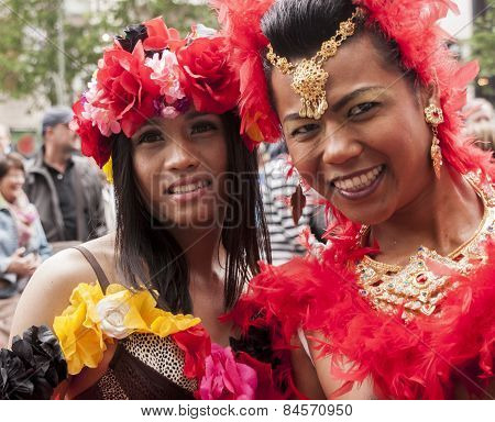 Elaborately Dressed Transgenders, During Gay Pride Parade