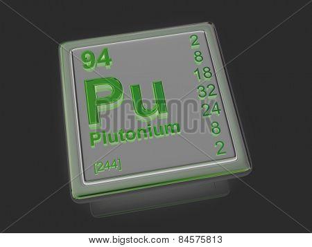 Plutonium. Chemical element. 3d