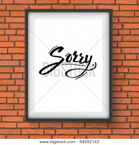 Simple design to say - Sorry