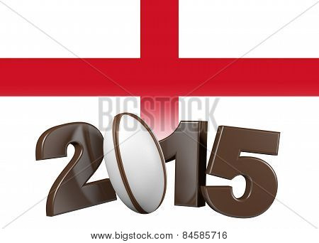 Rugby 2015 Design With England Flag