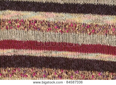 Knitted Stripes Background