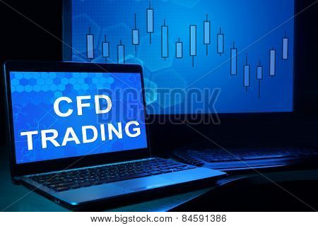 Computer with words cfd trading.