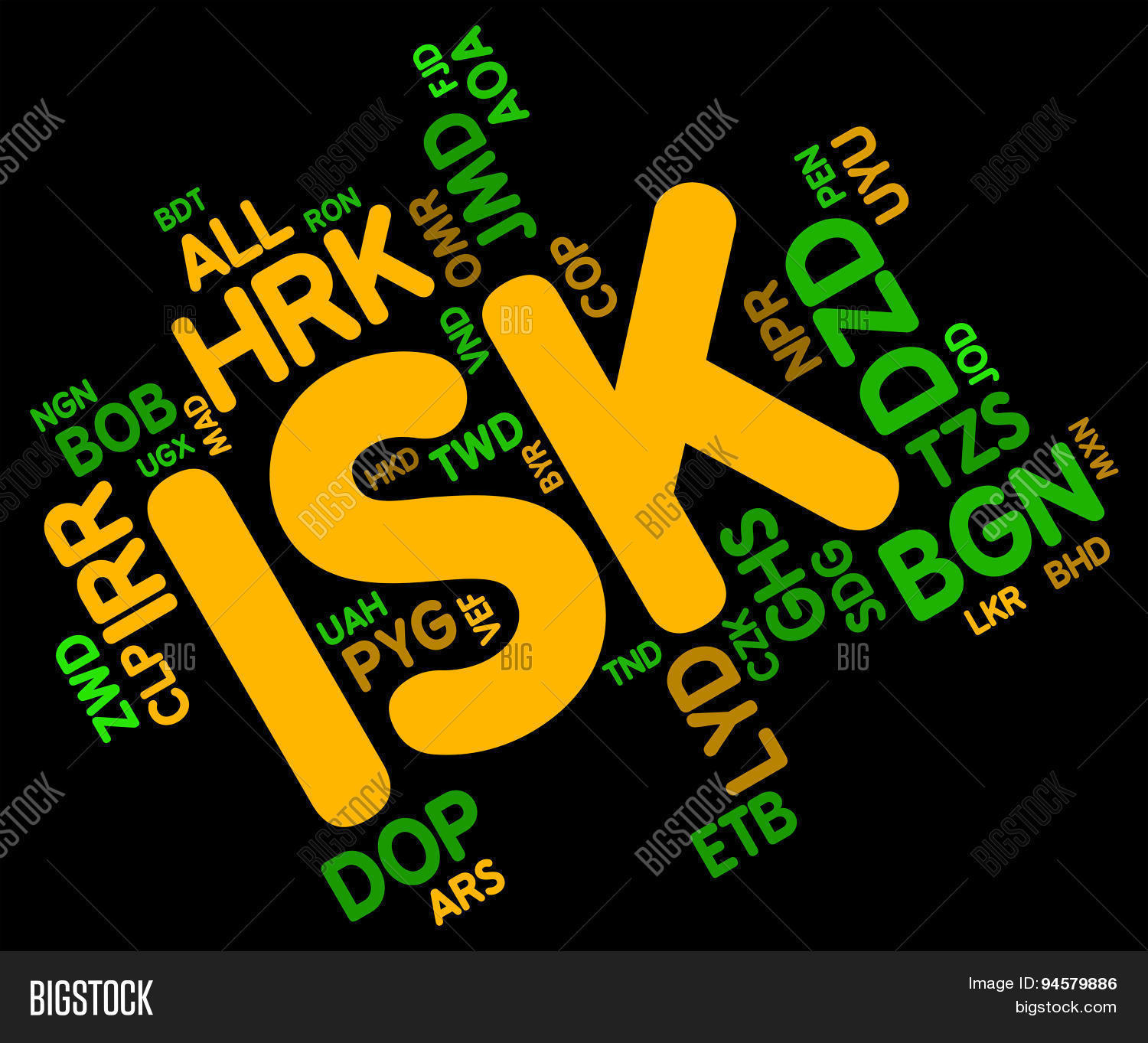 Isk Currency Means Image Photo Free Trial Bigstock