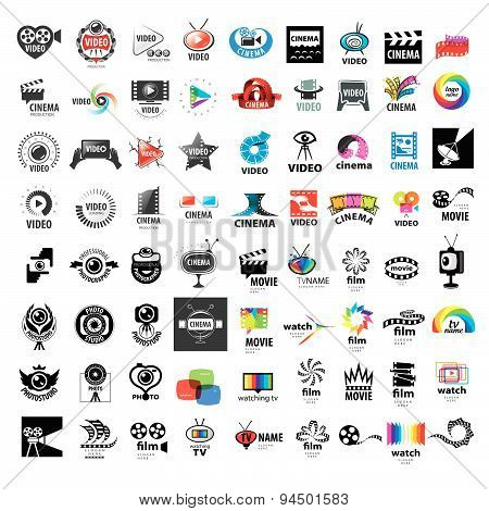 Large Set Of Vector Logos Photo And Video Production