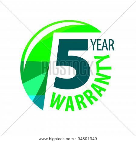 Vector Logo In The Shape Of A Circle 5-year Warranty