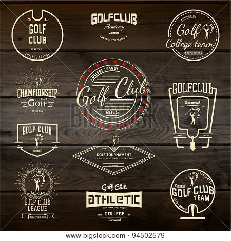Golf badges logos and labels for any use