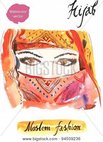 Arabian hijab