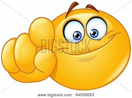 Yellow ball pointing at you