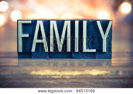 Family Concept Metal Letterpress Type