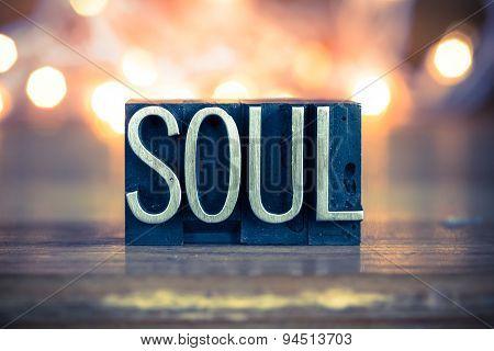 Soul Concept Metal Letterpress Type
