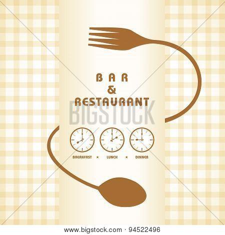 Restaurant menu design stock vector