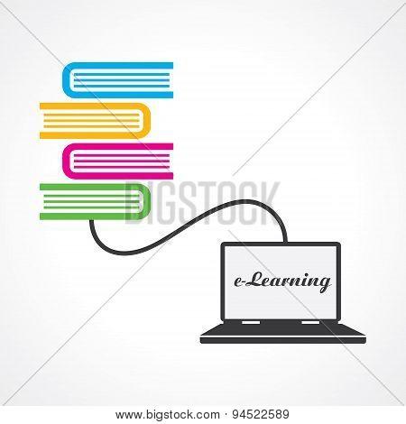 Computer education concept stock vector