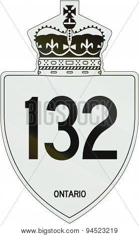 Ontario Highway Shield 132