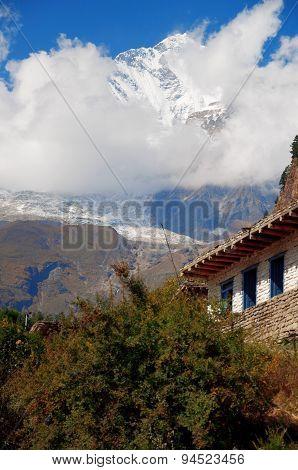 The Himalaya mountain peak