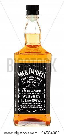 Bottle Of Jack Daniel's Bourbon Isolated On White
