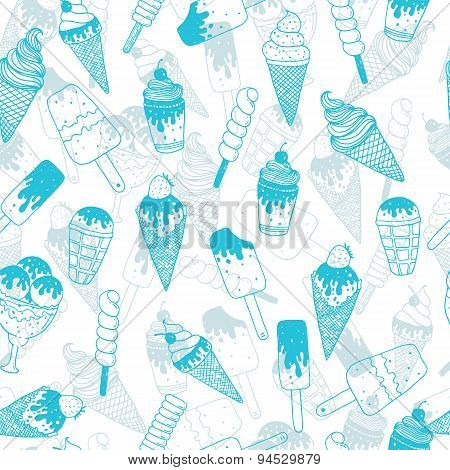 Vector ice cream background