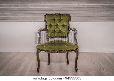 Victorian Chair In A Living Room