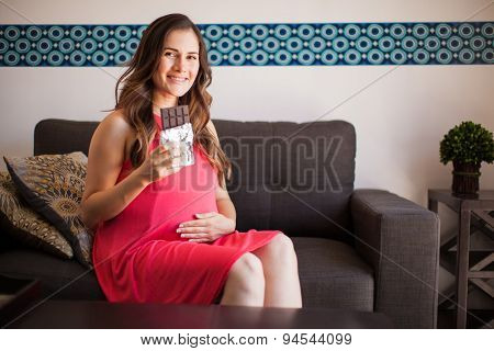 Pregnant Woman Craving Chocolate
