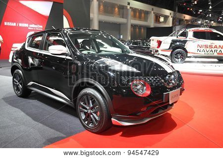 Bangkok - June 24 : Nissan Juke Car On Display At Bangkok International Auto Salon 2015 On June 24,
