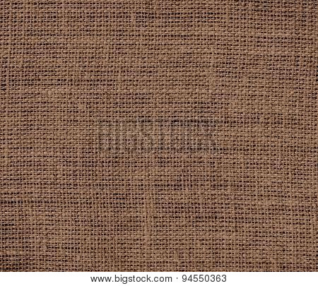 Dark brown-tangelo burlap texture background