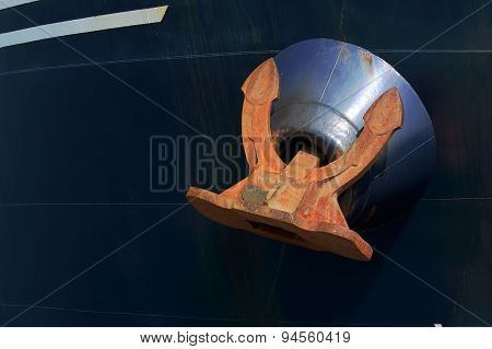 anchor fairlead stowed in vessel