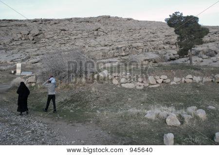 Iranian Family In Persepolis