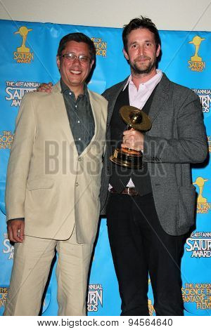 LOS ANGELES - JUN 25:  Dean Devlin, Noah Wyle at the 41st Annual Saturn Awards Press Room at the The Castaways on June 25, 2015 in Burbank, CA