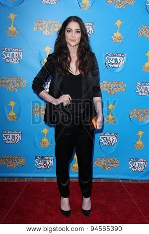 LOS ANGELES - JUN 25:  Janet Montgomery at the 41st Annual Saturn Awards Arrivals at the The Castaways on June 25, 2015 in Burbank, CA