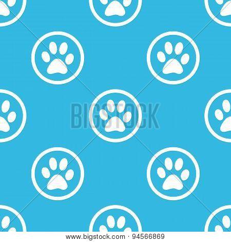 Paw sign blue pattern