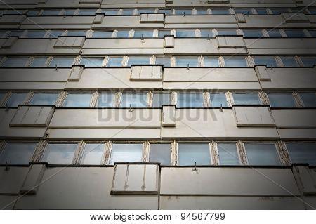 ramshackle office building