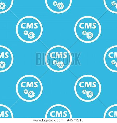 CMS settings sign blue pattern