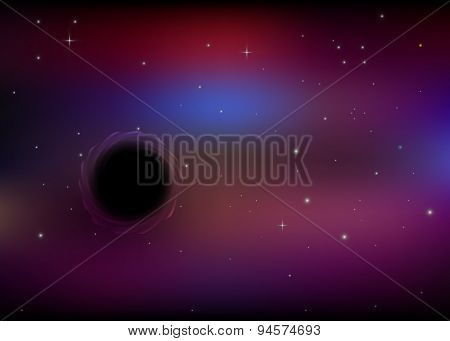 black hole in space,eps10.