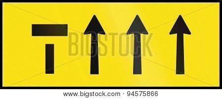 Left Lane Ends In Australia