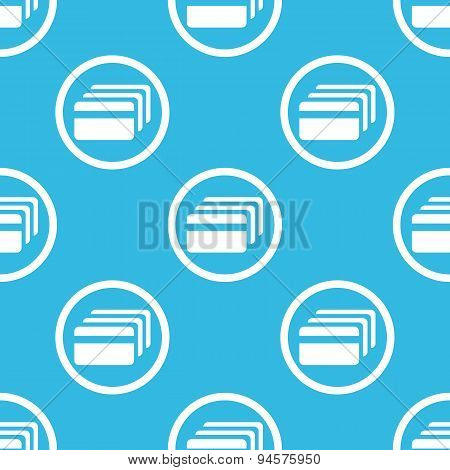 Credit card sign blue pattern
