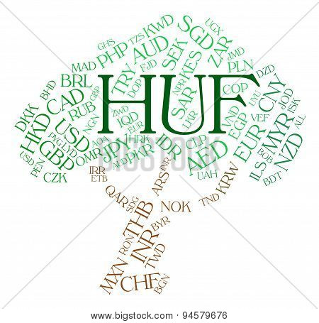 Huf Currency Shows Exchange Rate And Broker