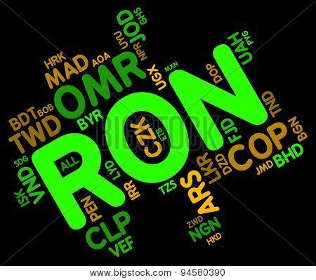 Ron Currency Represents Forex Trading And Currencies