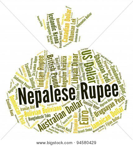 Nepalese Rupee Representing Forex Trading And Market poster