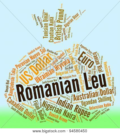 Romanian Leu Representing Foreign Exchange And Forex poster